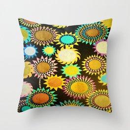 Nightflowers Throw Pillow