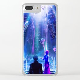Ready Player One inspired | Painting Poster | CLUB SCENE | PRINTS | #M47 Clear iPhone Case