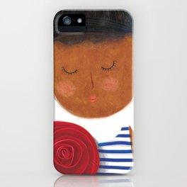 Stripes ´roses iPhone Case