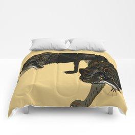 Black wolf totem Comforters