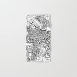 Amsterdam White Map Hand & Bath Towel