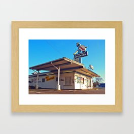 Drive-thru cleaners Framed Art Print