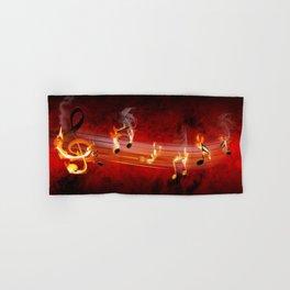 Hot Music Notes Hand & Bath Towel