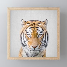 Tiger - Colorful Framed Mini Art Print