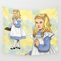 toddler Wall Tapestries featuring Alice by Tom Tierney Studios
