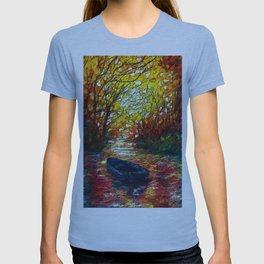 OLena Art, sunset, landscape, artwork, artistic, impressive, illustration, painting, sceni OLena Art T-shirt