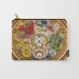Ceiling Mural of the Palais Garnier Opera House, Paris, France color photograph - photography by  Marc Chagall  Carry-All Pouch