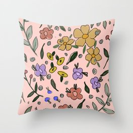 Floral bunch Throw Pillow