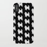 westie iPhone & iPod Cases featuring Westie Dog Pattern by Antique Images