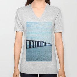 Under the Bridge and Beyond Unisex V-Neck