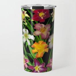 Display of daylilies II on blck Travel Mug