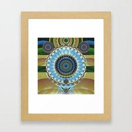 Gentle Grounding Earthling Mandala Landscape Framed Art Print