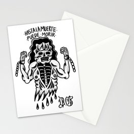 even death can die Stationery Cards