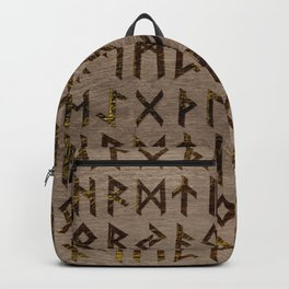 Ancient Celtic Runes  Alphabet pattern Backpack