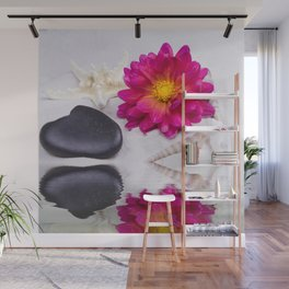 Zen Dahlia Beach Moments Wall Mural
