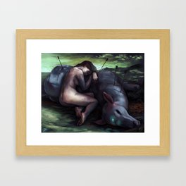 The Nymph and the Death Framed Art Print