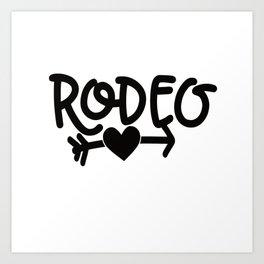 Rodeo Bulle Art Print