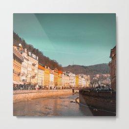 Karlovy Vary cityscape Metal Print