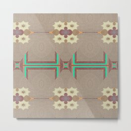 Pallid Minty Pattern 11 Metal Print