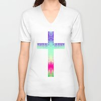 cross V-neck T-shirts featuring Cross by M Studio