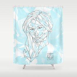 Diamant Bleu Shower Curtain