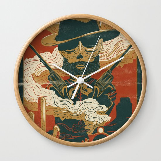 Train to Yuma Wall Clock