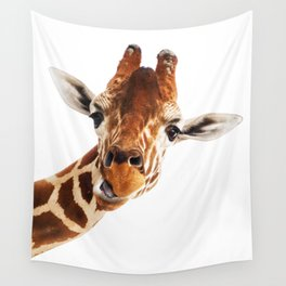 Giraffe Portrait // Wild Animal Cute Zoo Safari Madagascar Wildlife Nursery Decor Ideas Wall Tapestry