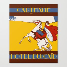 Vintage style 1920s Carthage travel advertising Canvas Print