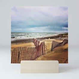 Oval Beach in Autumn Mini Art Print