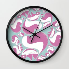 Pink Skunk Wall Clock
