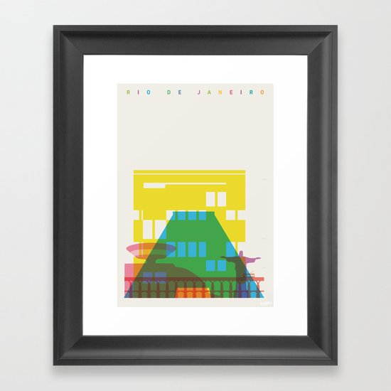 Shapes of Rio. Accurate to scale Framed Art Print