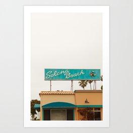 Solona Beach Art Print