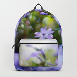 Modern Minimalist Nature Photography Close Up Of Purple Flower Natural Organic Shapes Art Print Backpack