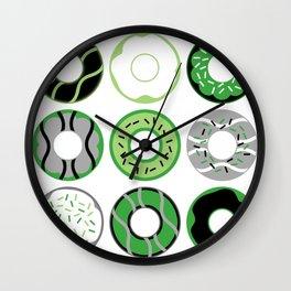 Aromantic Donuts Wall Clock