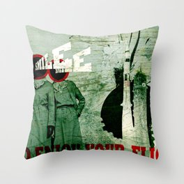 Smile and Enjoy Your Flight Throw Pillow