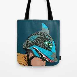 The Shark Helmet Tote Bag