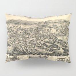 Vintage Bird's Eye Map Illustration - Placerville, California (1888) Pillow Sham