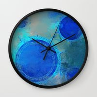nautical Wall Clocks featuring Nautical by JuniqueStudio