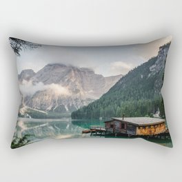 Mountain Lake Cabin Retreat Rectangular Pillow
