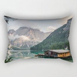 Mountain Lake Cabin Retreat Rectangular Pillow