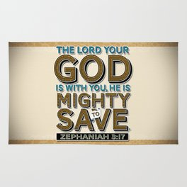 He is Mighty to Save! Rug