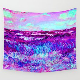 Monet Marine Pourville in Pink and Purple Wall Tapestry