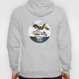Minimal Abstract Mountains Hoody