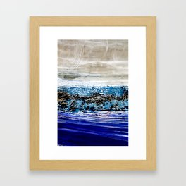 ...blurred line of horizons Framed Art Print