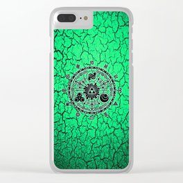 Green Circle Of Triangle Clear iPhone Case