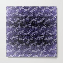Purple Dragonfly Twighlight Dance Metal Print