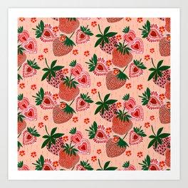 Strawberry Yum Art Print