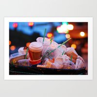 starbucks Art Prints featuring starbucks by RAIKO IVAN雷虎