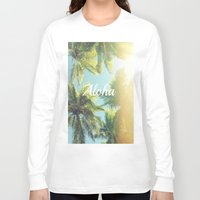 "aloha Long Sleeve T-shirts featuring AloHa by ""CVogiatzi."