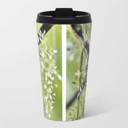 Blades Of Grass On Wire Fence Travel Mug